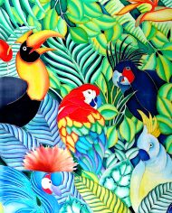 Birds of paradise 20X30 inches