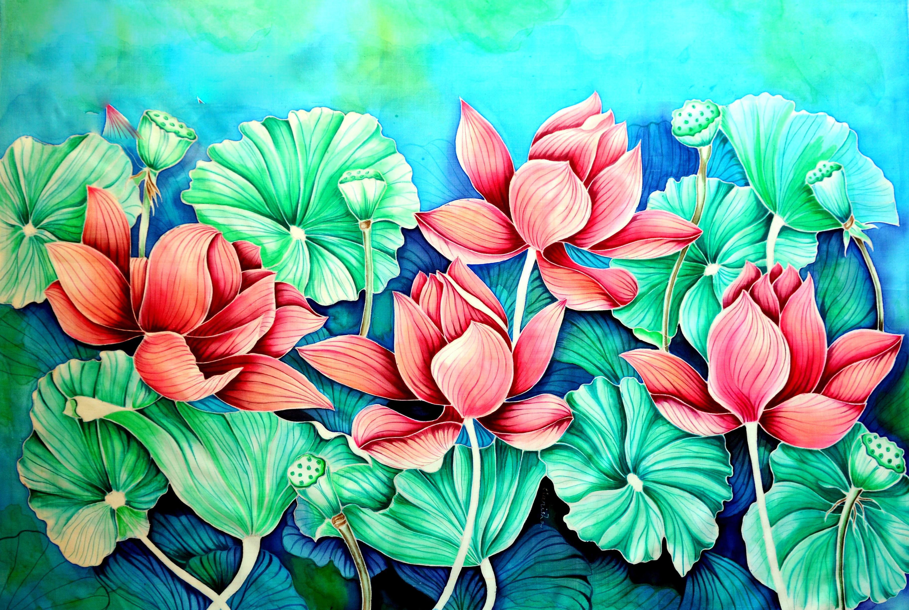 Red Lotus Pond Sold Amrayi